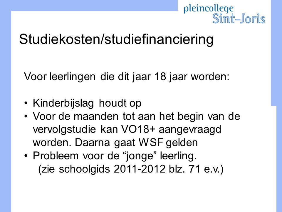 Studiekosten/studiefinanciering