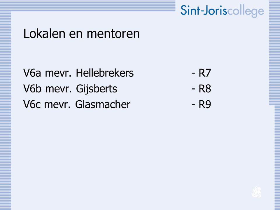 Lokalen en mentoren V6a mevr. Hellebrekers - R7
