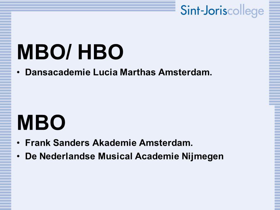 MBO/ HBO MBO Dansacademie Lucia Marthas Amsterdam.