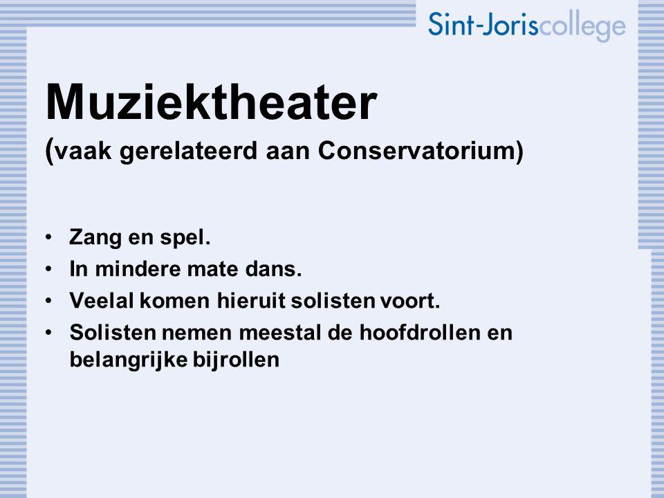 Muziektheater (vaak gerelateerd aan Conservatorium)