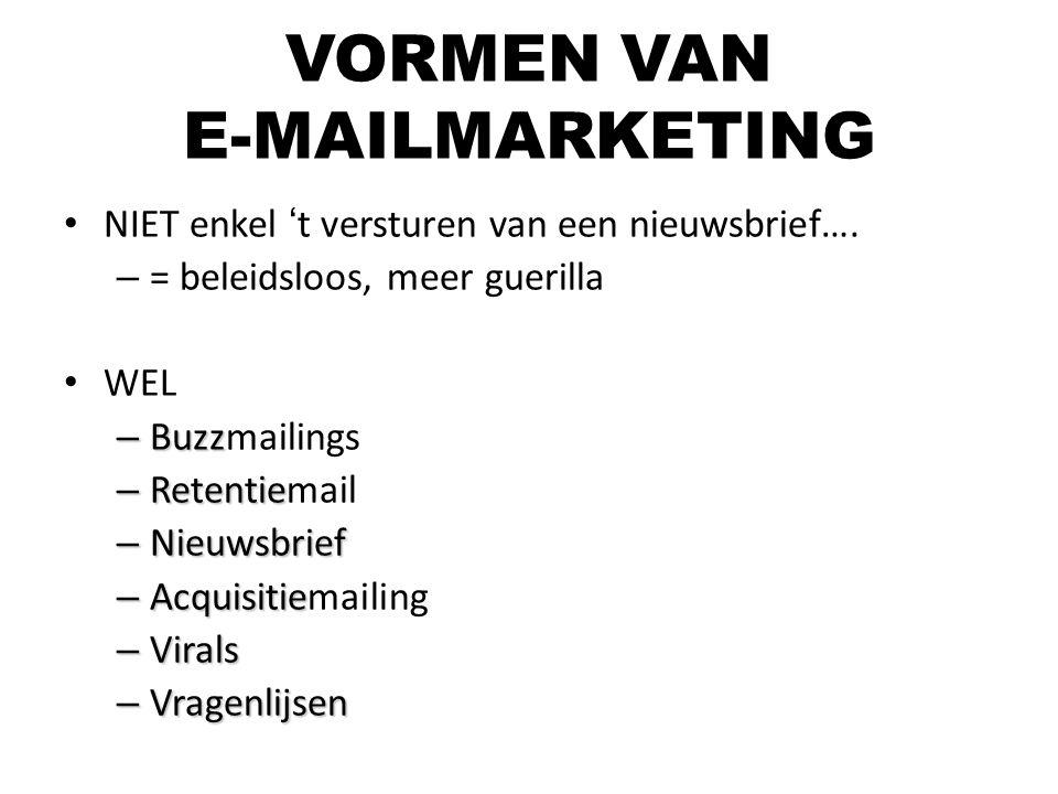 VORMEN VAN E-MAILMARKETING