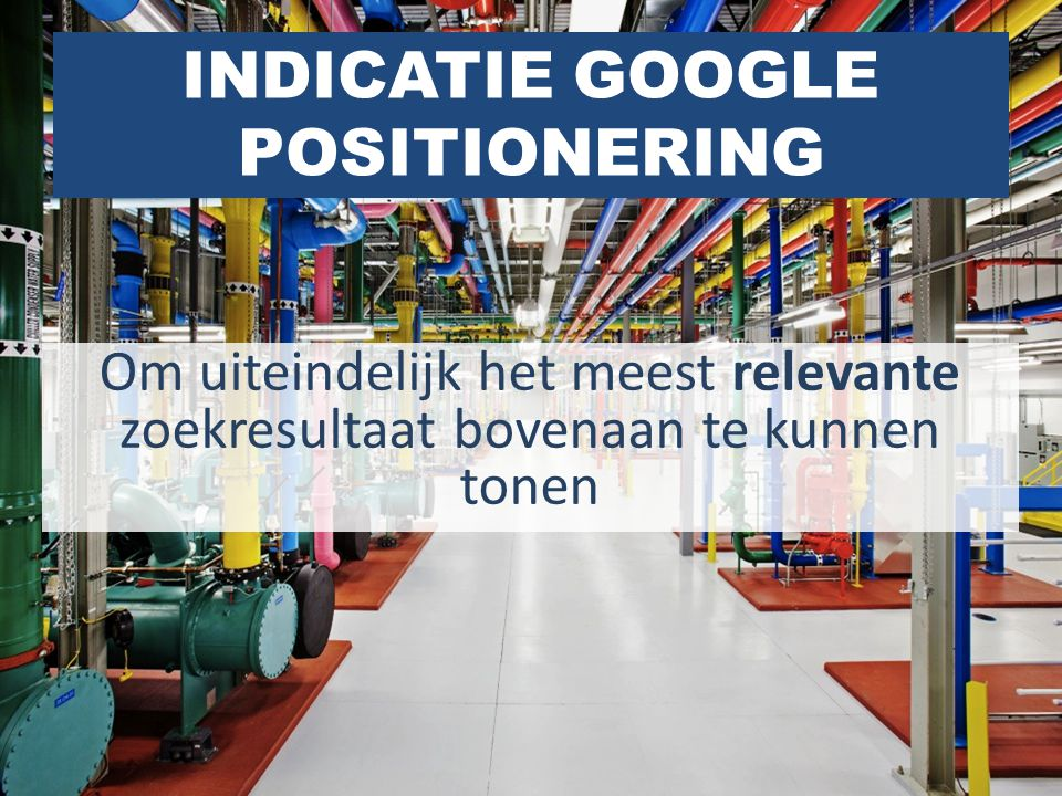 INDICATIE GOOGLE POSITIONERING