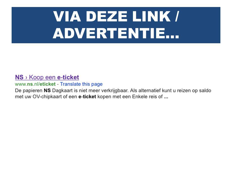 VIA DEZE LINK / ADVERTENTIE…