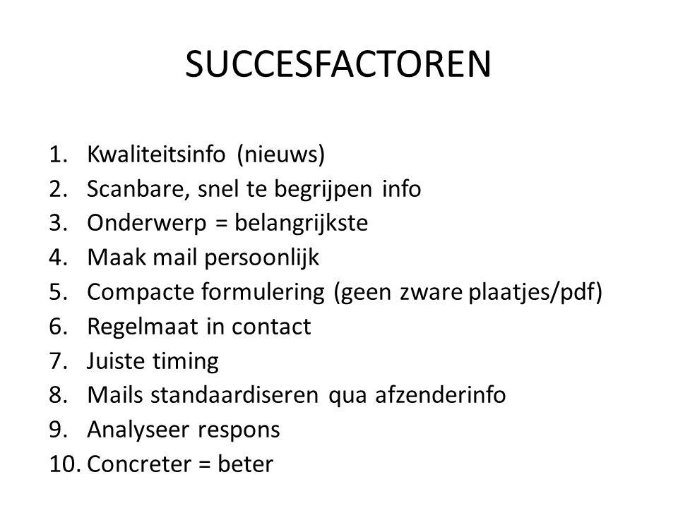 SUCCESFACTOREN Kwaliteitsinfo (nieuws)