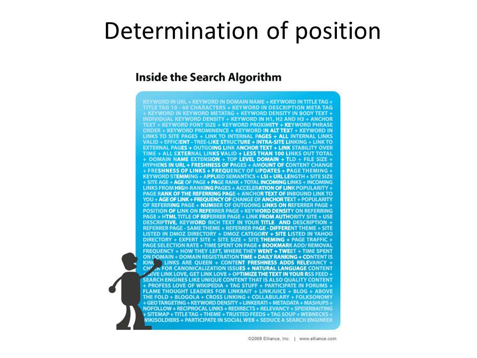 Determination of position