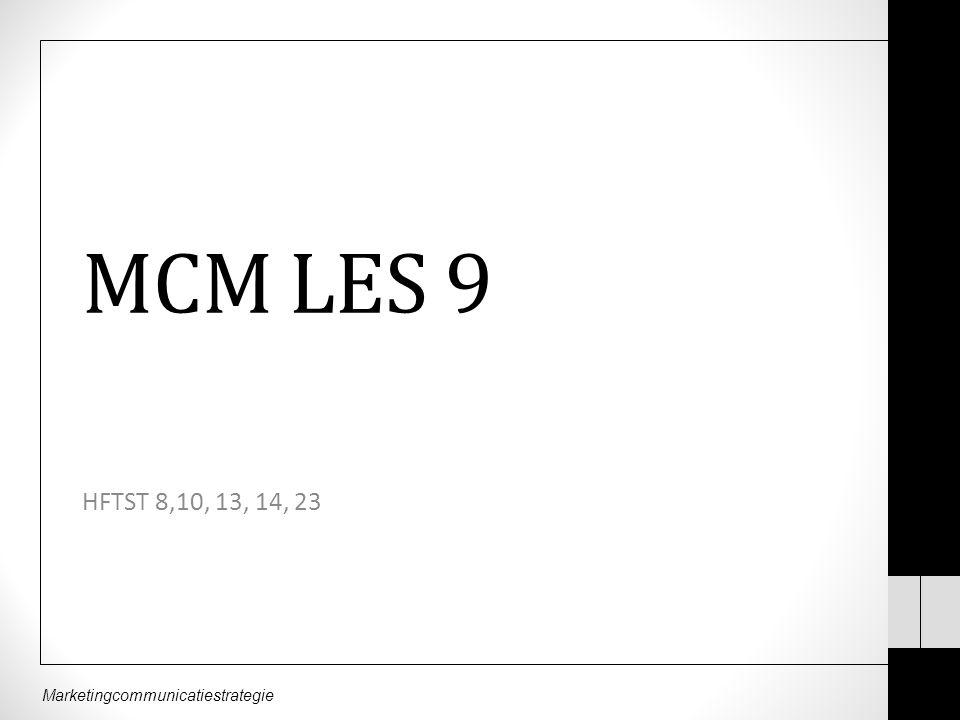 MCM LES 9 HFTST 8,10, 13, 14, 23
