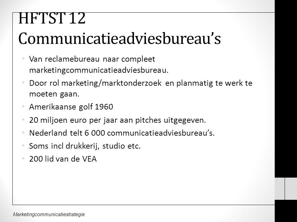 HFTST 12 Communicatieadviesbureau's