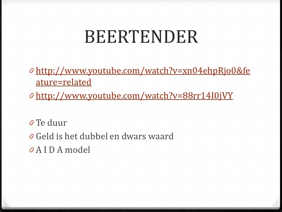 BEERTENDER http://www.youtube.com/watch v=xn04ehpRjo0&feature=related