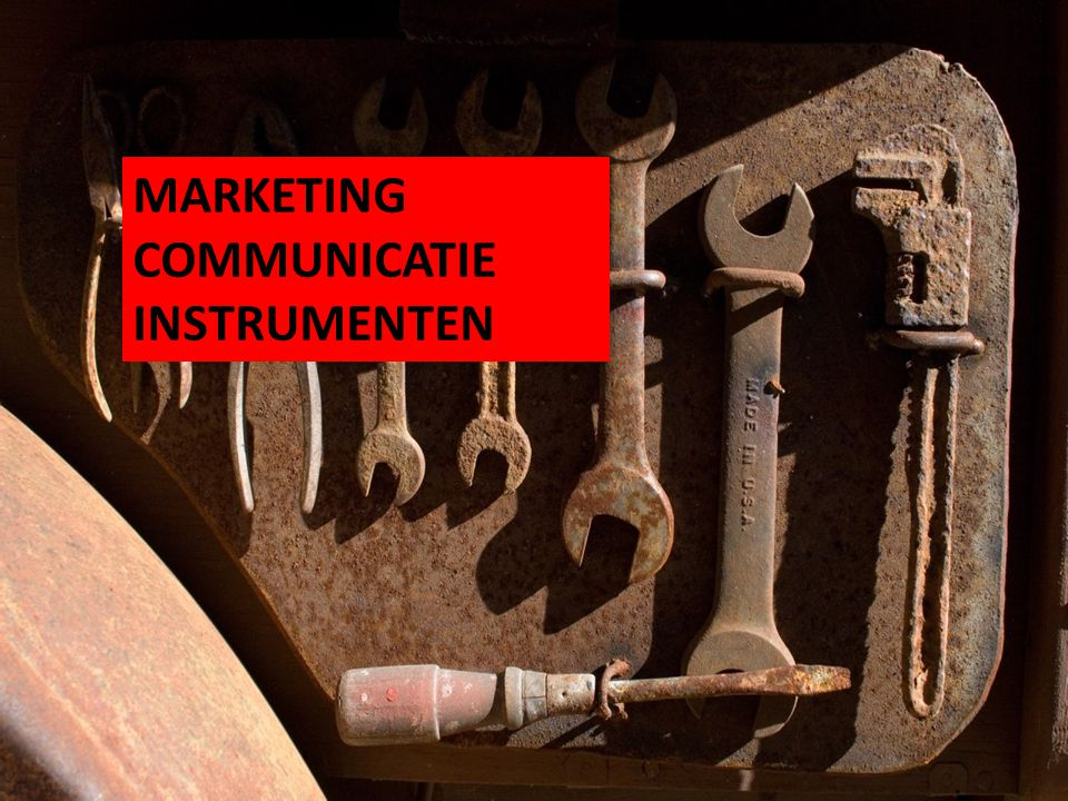 MARKETING COMMUNICATIE INSTRUMENTEN