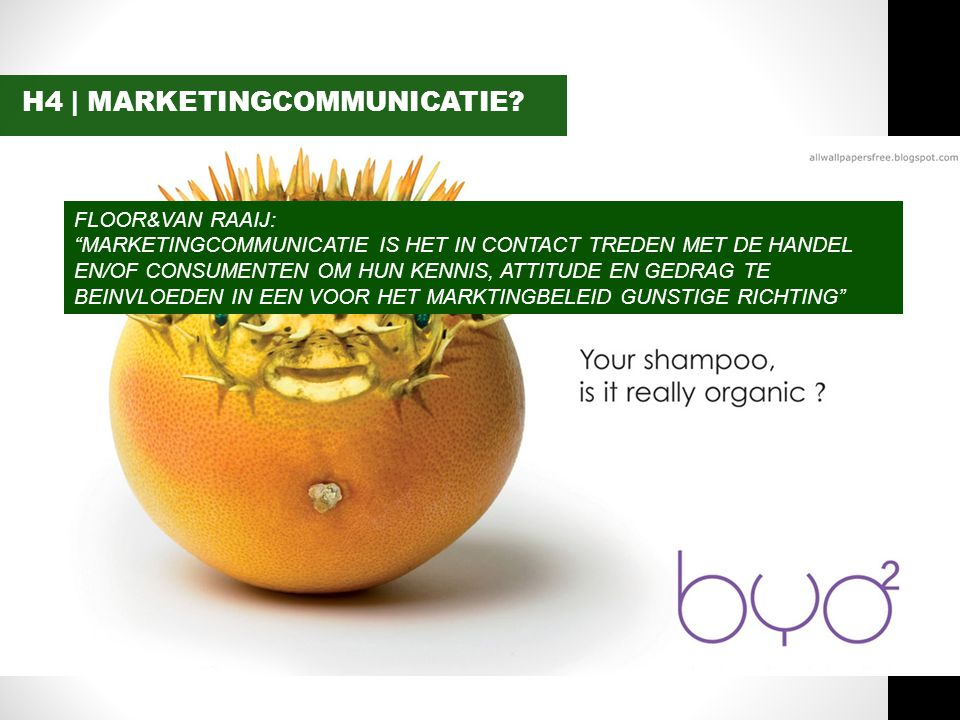 H4 | MARKETINGCOMMUNICATIE