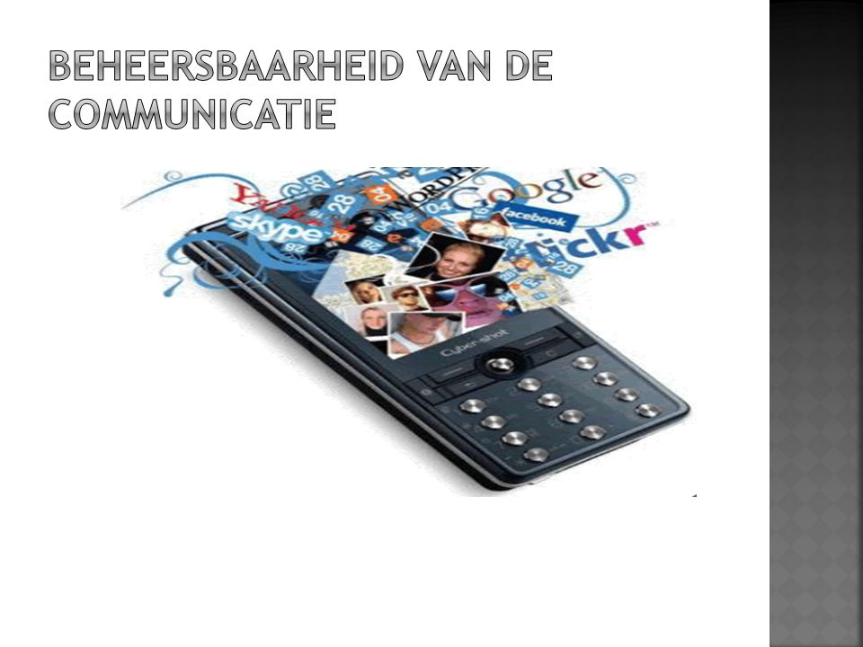 BEHEERSBAARHEID van de communicatie