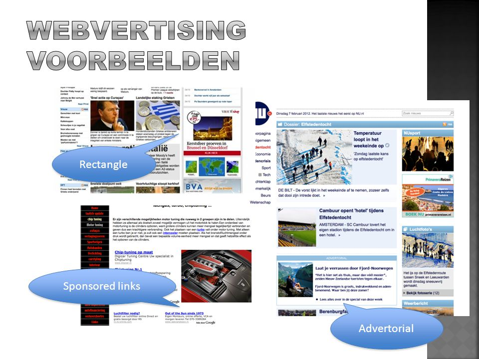 WEBVERTISING VOORBEELDEN