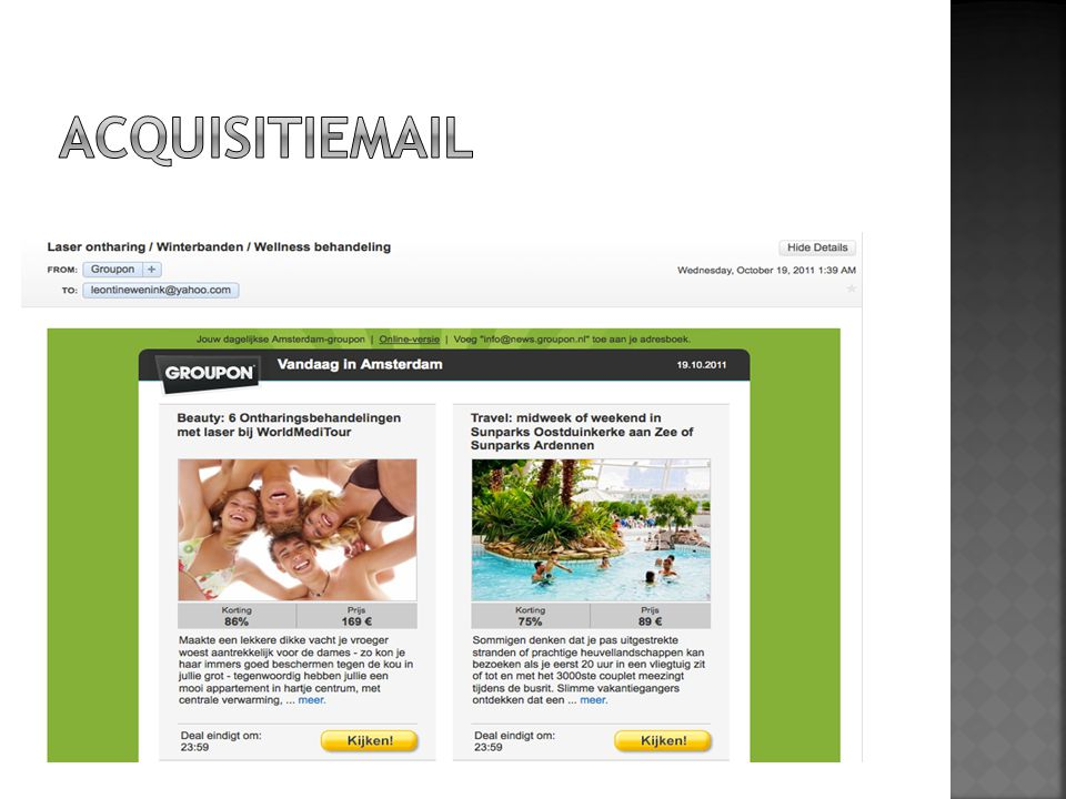 ACQUISITIEMAIL Direct verkopen:
