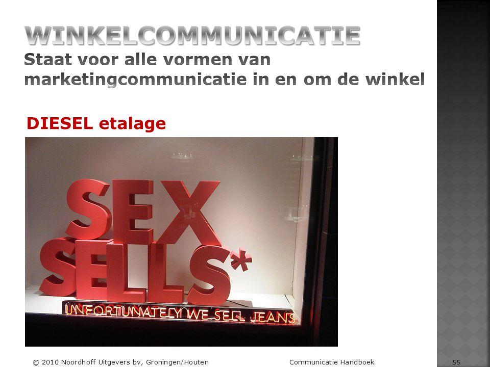 Winkelcommunicatie Staat voor alle vormen van marketingcommunicatie in en om de winkel