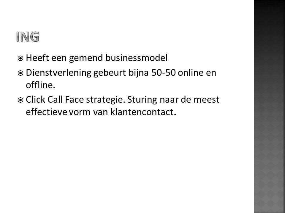 ING Heeft een gemend businessmodel