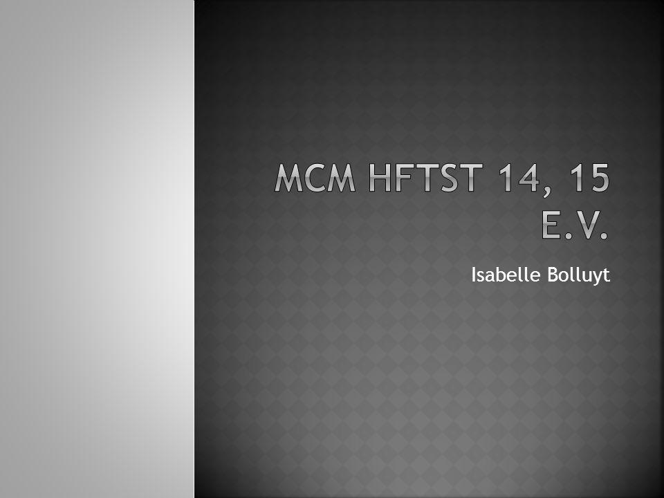 MCM HFTST 14, 15 e.v. Isabelle Bolluyt