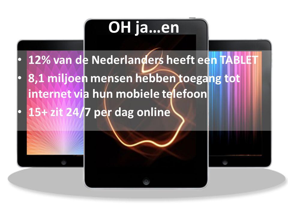 OH ja…en 12% van de Nederlanders heeft een TABLET
