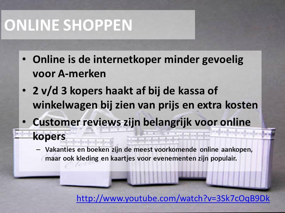 ONLINE SHOPPEN Online is de internetkoper minder gevoelig voor A-merken.
