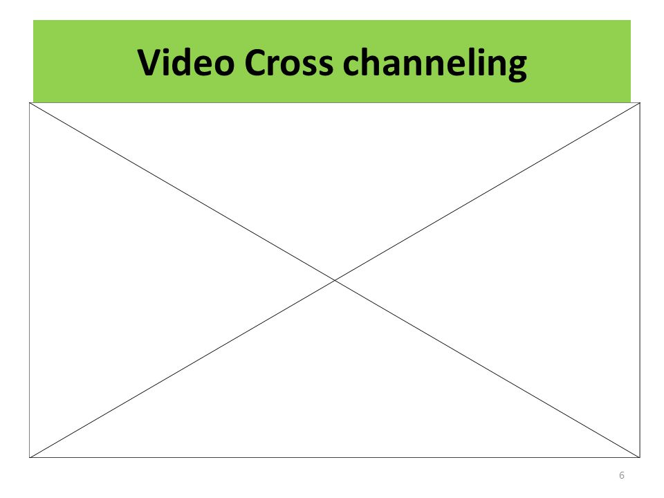 Video Cross channeling
