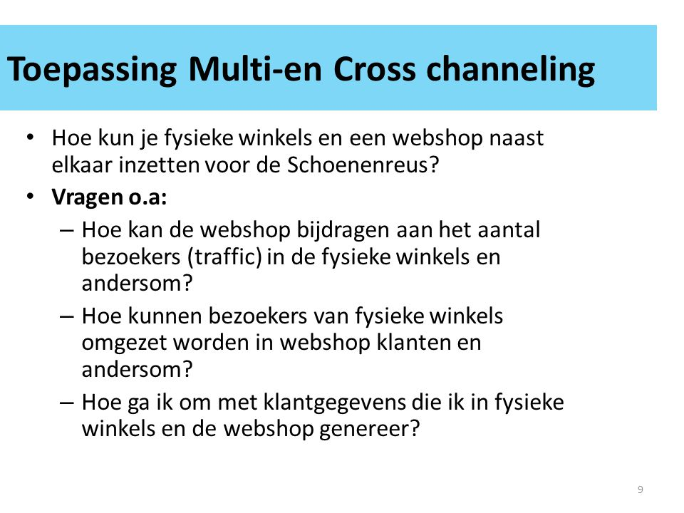 Toepassing Multi-en Cross channeling