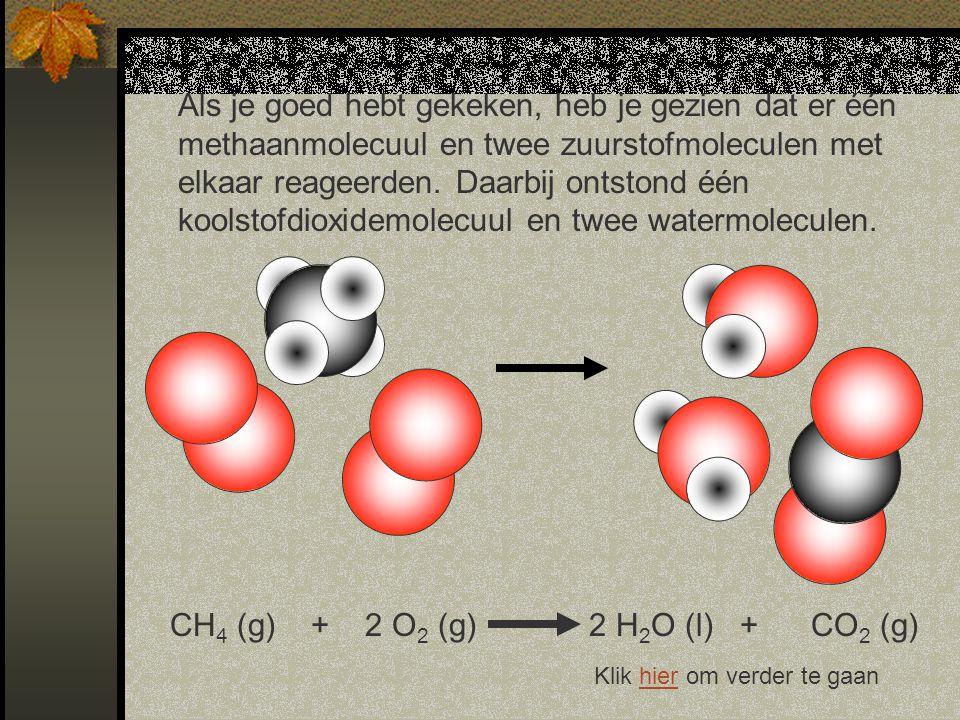 CH4 (g) + 2 O2 (g) 2 H2O (l) + CO2 (g)