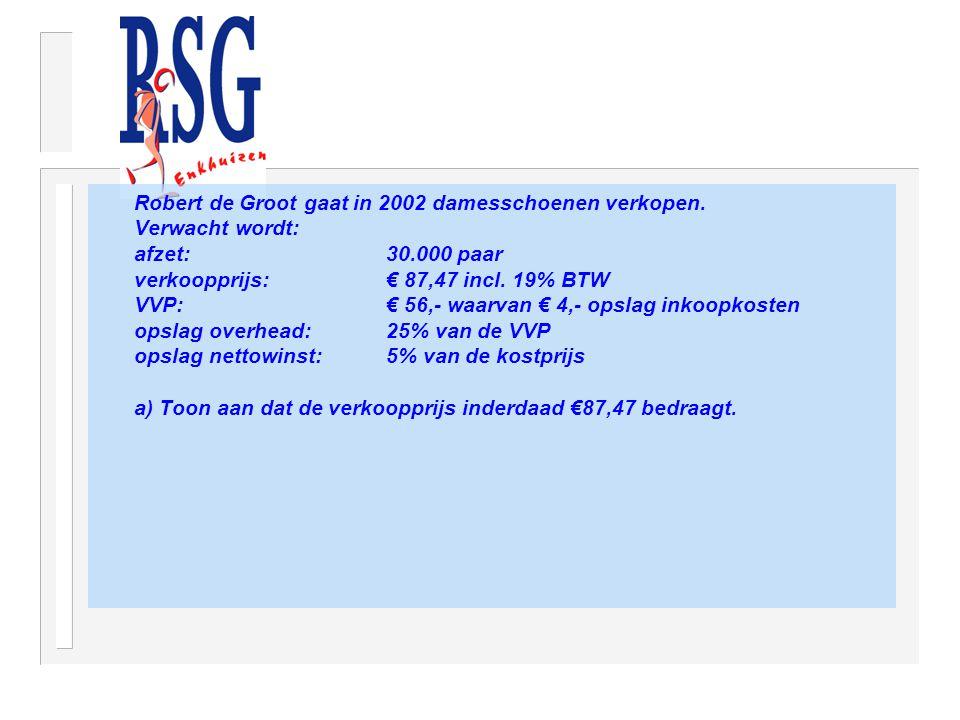 Robert de Groot gaat in 2002 damesschoenen verkopen