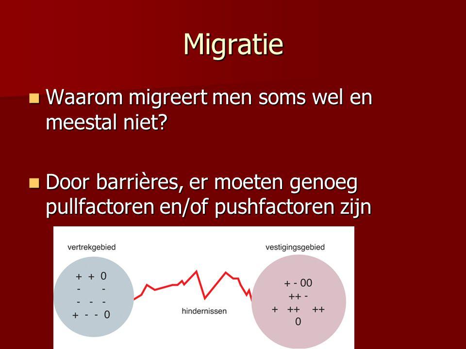 Migratie Waarom migreert men soms wel en meestal niet