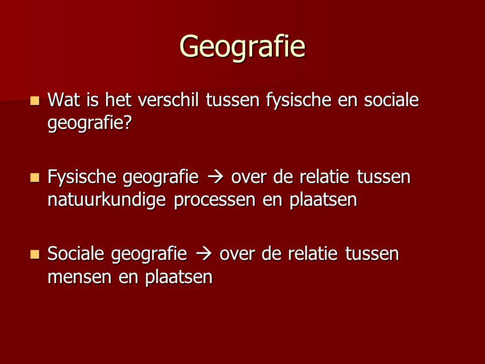 Geografie Wat is het verschil tussen fysische en sociale geografie