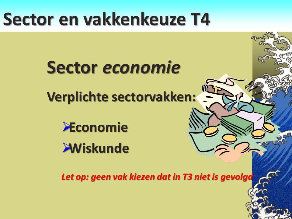 Sector en vakkenkeuze T4