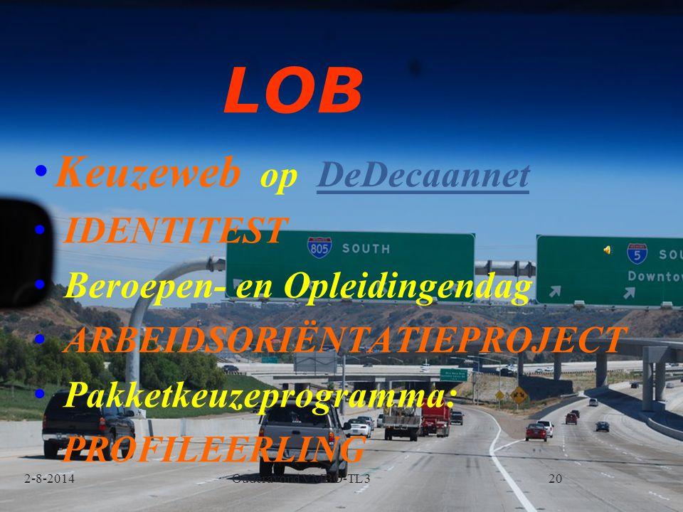 LOB Keuzeweb op DeDecaannet IDENTITEST Beroepen- en Opleidingendag