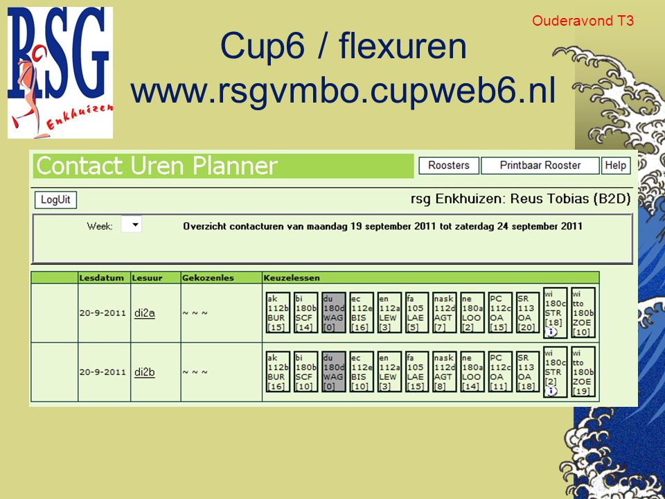 Cup6 / flexuren www.rsgvmbo.cupweb6.nl