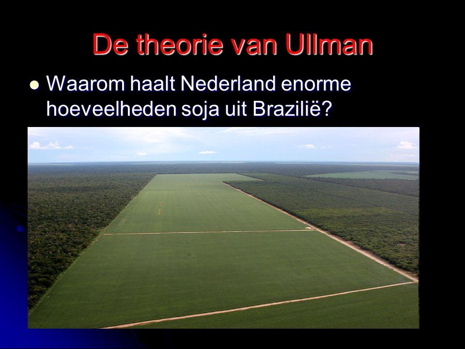 De theorie van Ullman Waarom haalt Nederland enorme hoeveelheden soja uit Brazilië