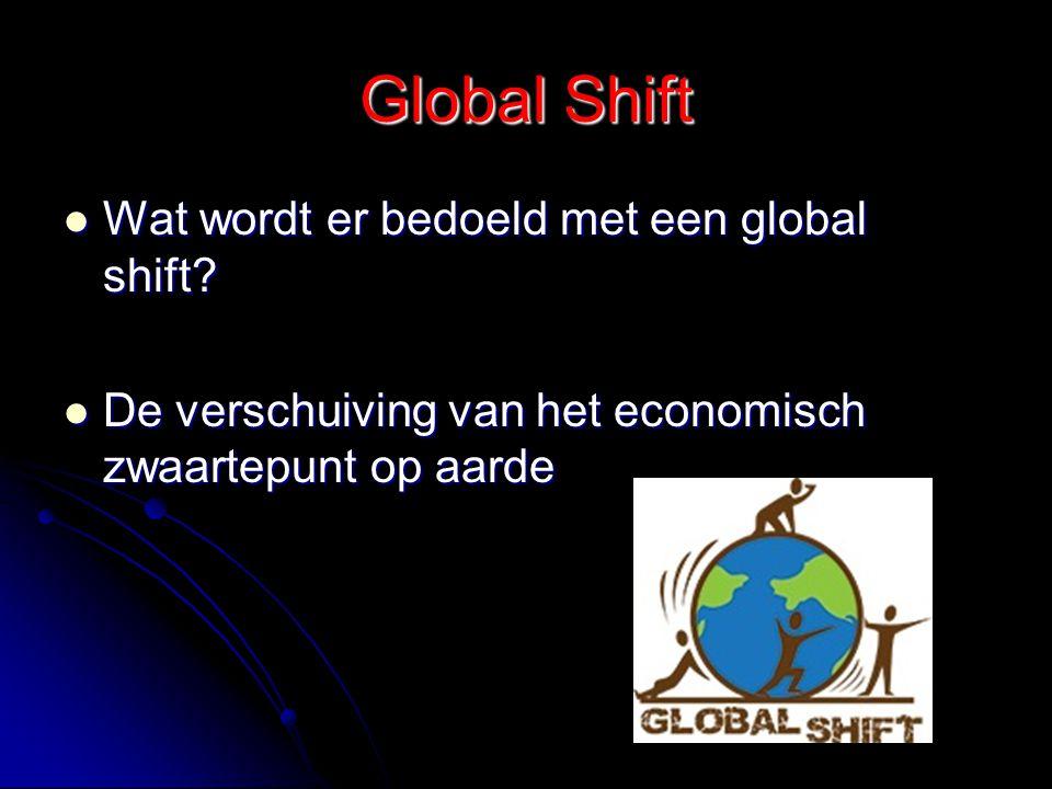 Global Shift Wat wordt er bedoeld met een global shift
