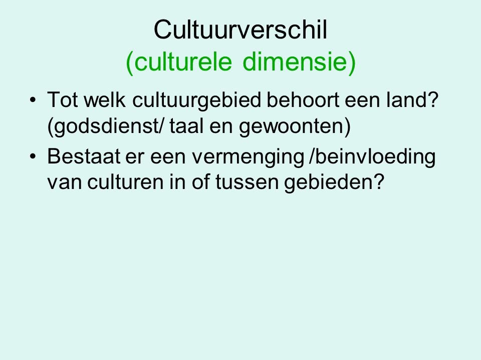 Cultuurverschil (culturele dimensie)