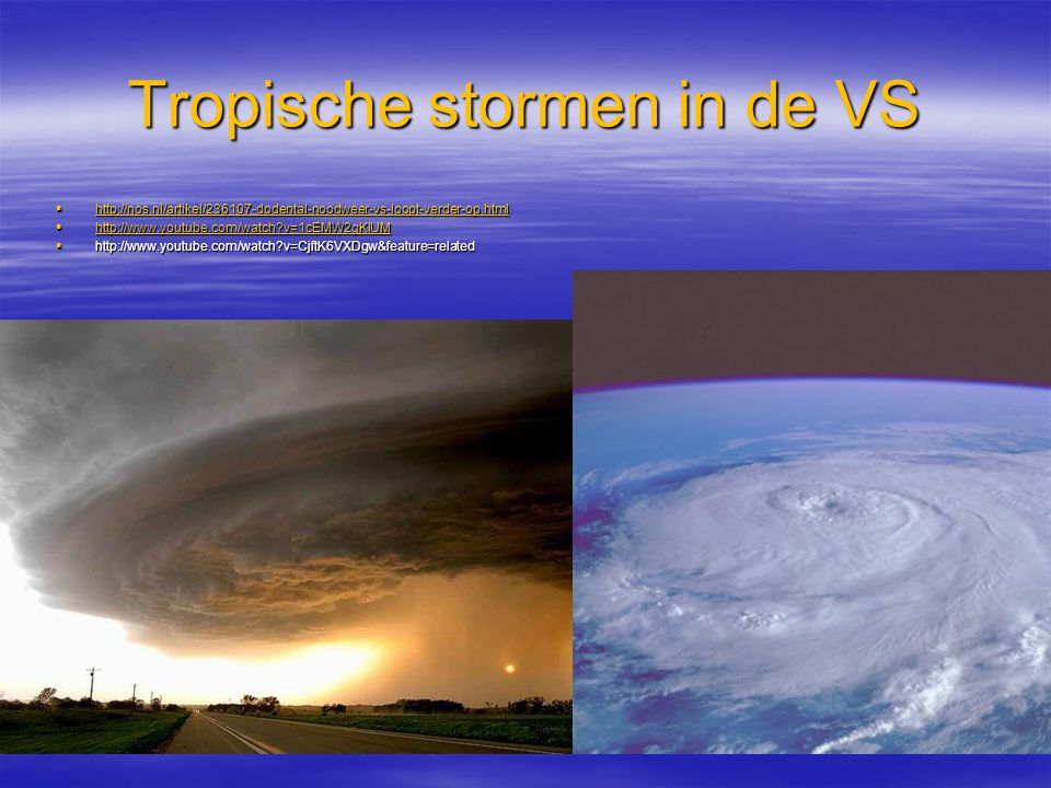 Tropische stormen in de VS