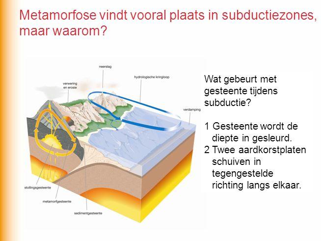 Metamorfose vindt vooral plaats in subductiezones, maar waarom