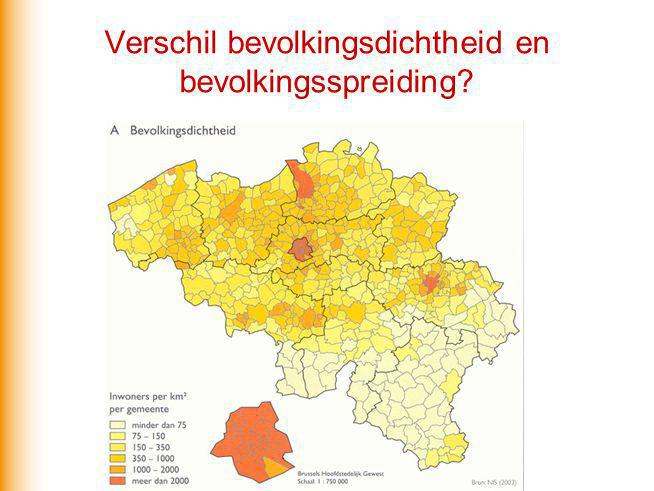 Verschil bevolkingsdichtheid en bevolkingsspreiding