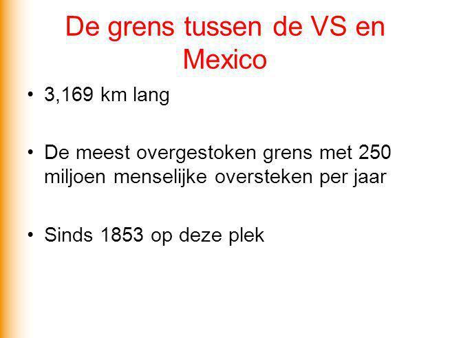 De grens tussen de VS en Mexico