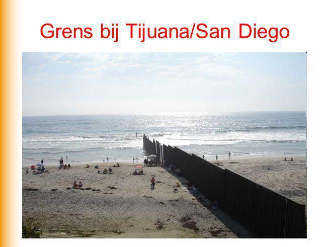 Grens bij Tijuana/San Diego