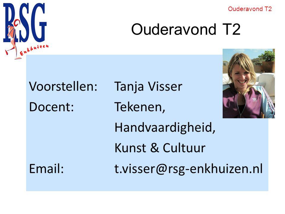 Ouderavond T2 Voorstellen: Tanja Visser Docent: Tekenen,