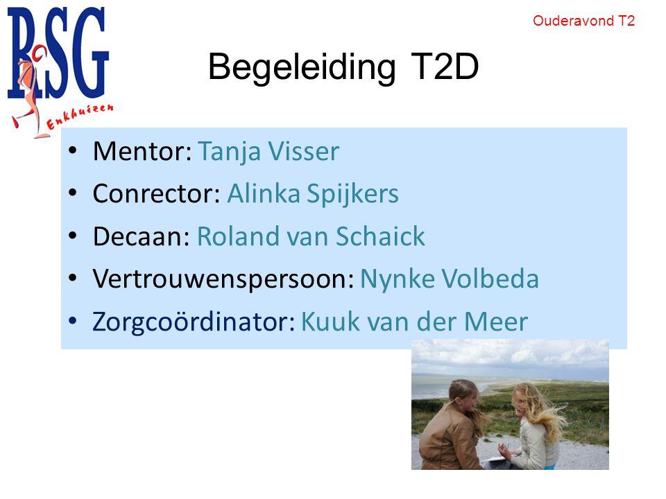 Begeleiding T2D Mentor: Tanja Visser Conrector: Alinka Spijkers