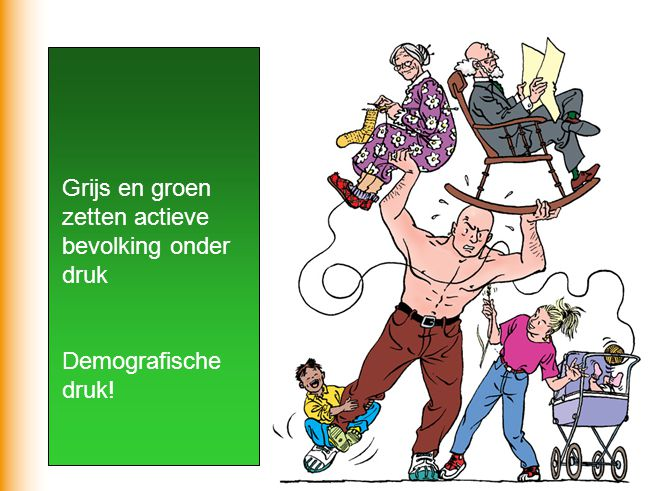 Grijs en groen zetten actieve bevolking onder druk