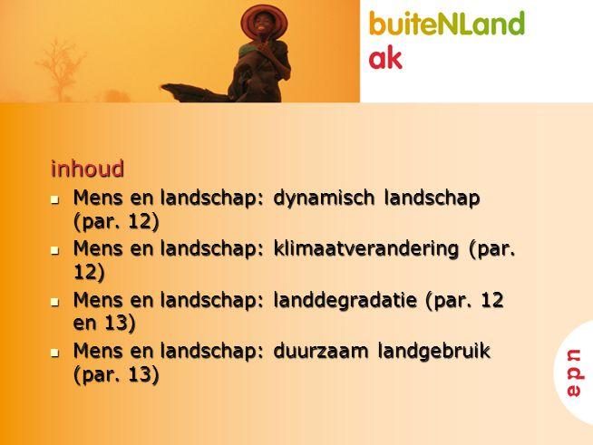 inhoud Mens en landschap: dynamisch landschap (par. 12)
