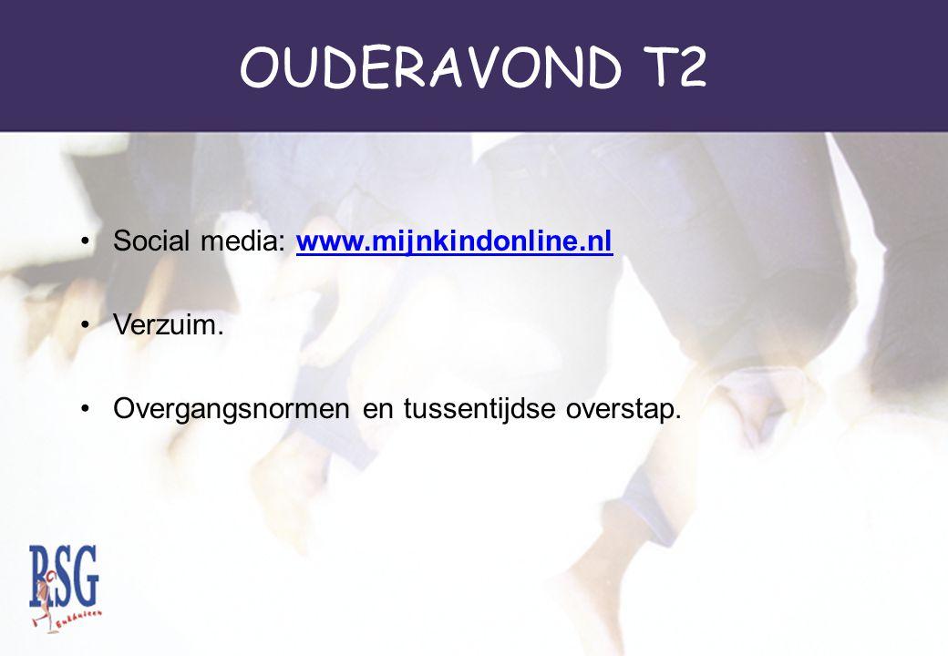 OUDERAVOND T2 Social media: www.mijnkindonline.nl Verzuim.