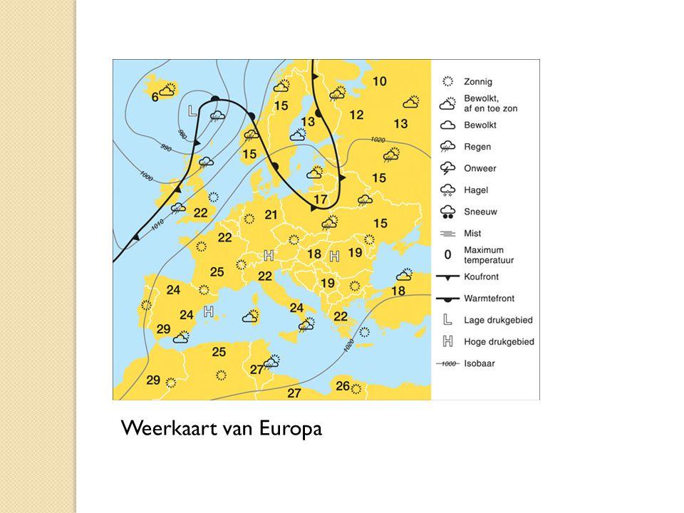Weerkaart van Europa