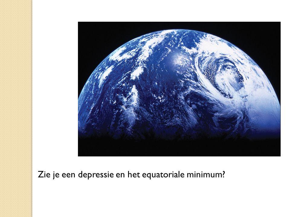 Zie je een depressie en het equatoriale minimum