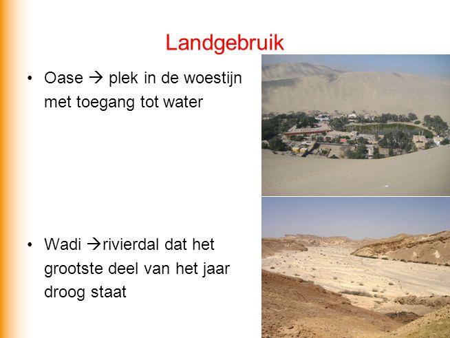 Landgebruik Oase  plek in de woestijn met toegang tot water