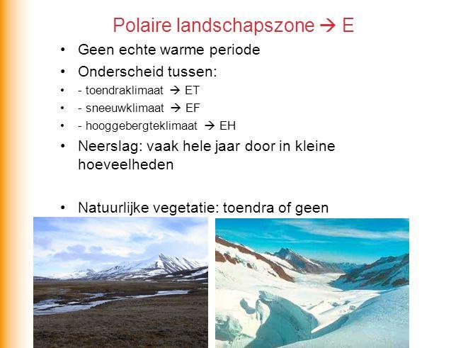 Polaire landschapszone  E