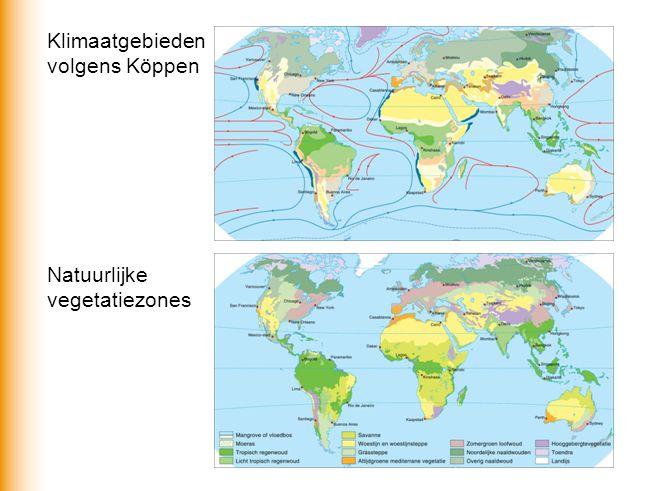 Klimaatgebieden volgens Köppen