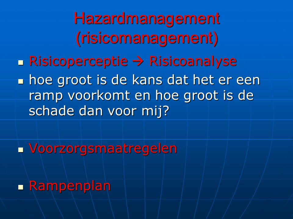 Hazardmanagement (risicomanagement)